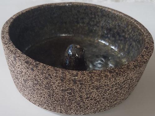 Incensário de Cerâmica Escuro
