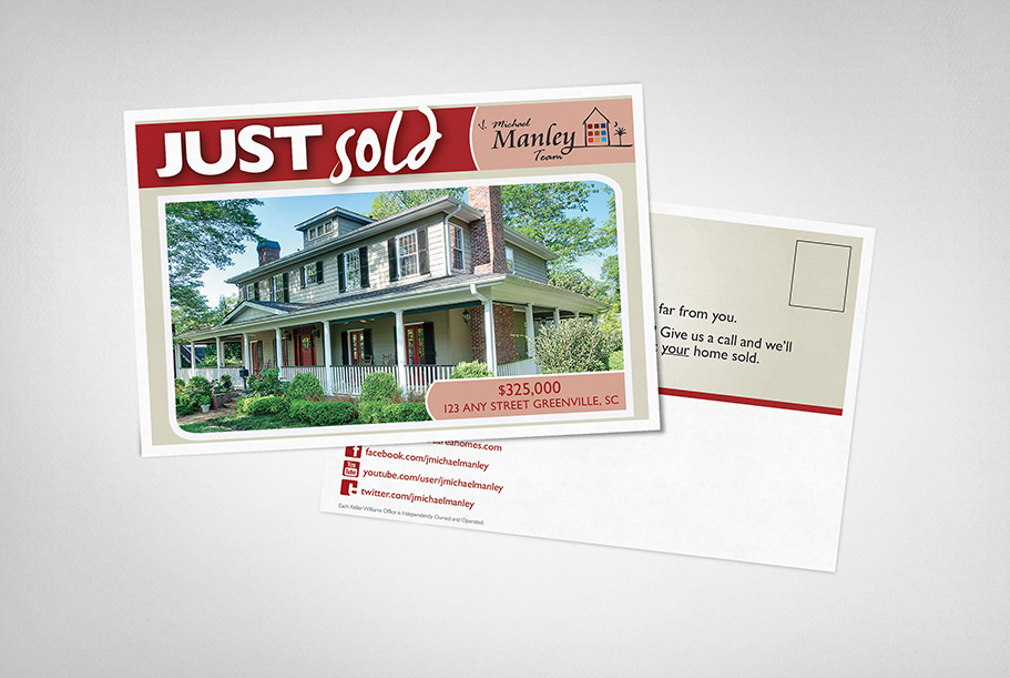 J Michael Manley Team Postcards