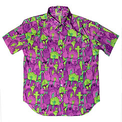 Nuclear Cemetery Button Up Shirt