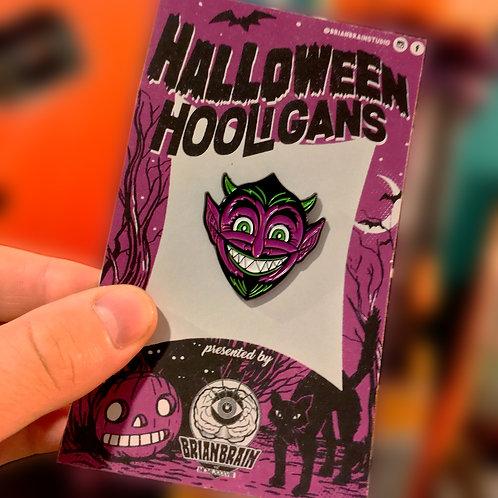 Devil Halloween Hooligan Enamel Pin