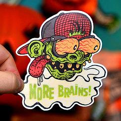 Zombie Nerd  Sticker