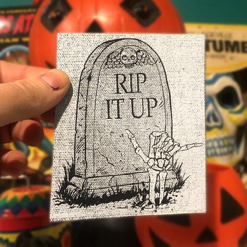 RIP It Up Grave Cloth Canvas Patch