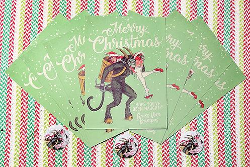 Krampus Christmas Post Card