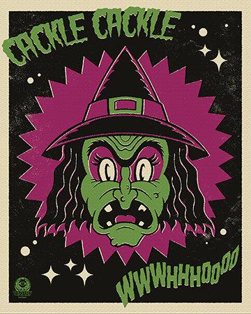 Halloween Hooligan Witch 8X10 Print