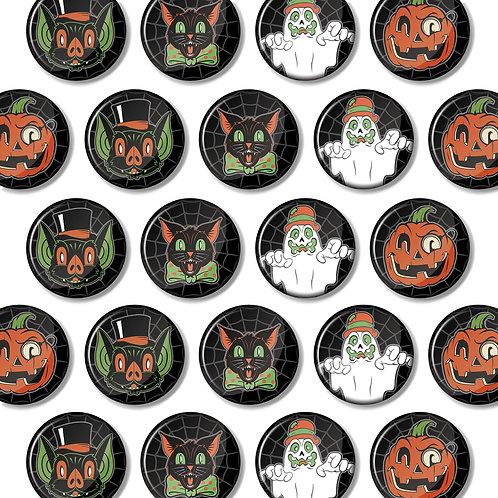 4 Button Halloween Hooligan Set