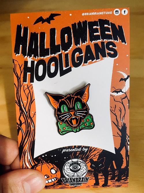 Black Cat Halloween Hooligan Pin
