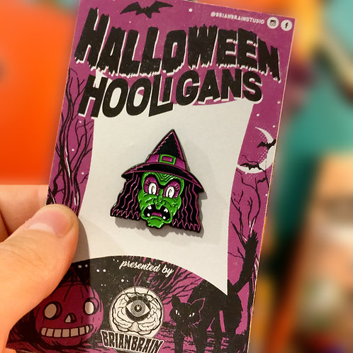 Witch Halloween Hooligan Enamel Pin