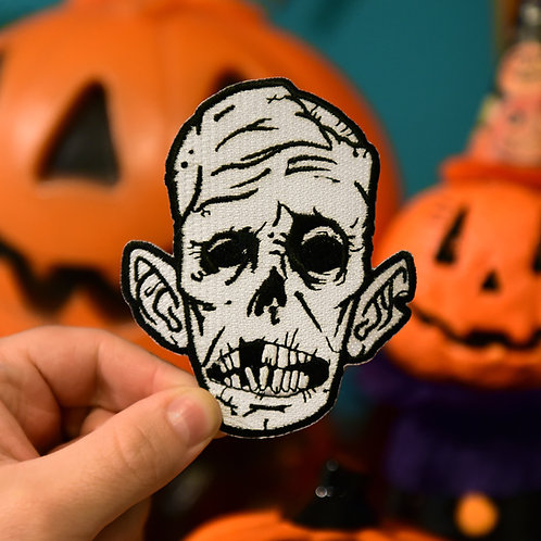 Zombie Face Embroidered Patch