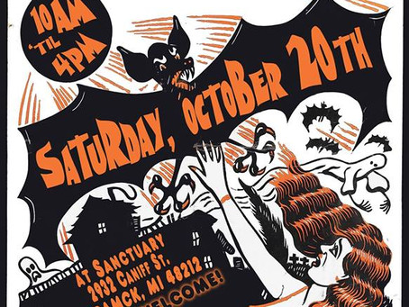 I will be at the Detroit Spook Show Halloween Sale