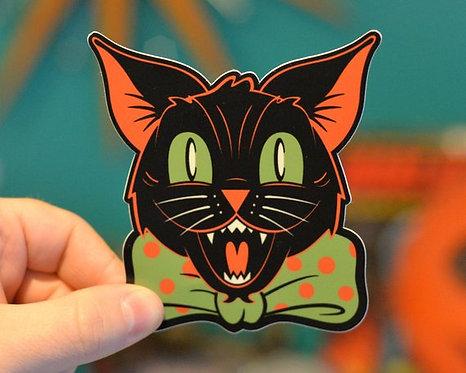 Black Cat Halloween Hooligan Sticker