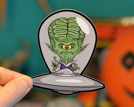 Saucer Man Sticker