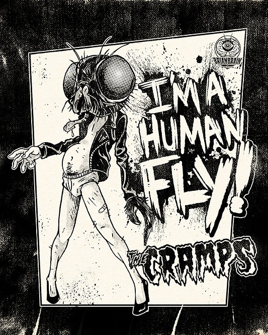 The Cramps Human Fly 8x10 Print