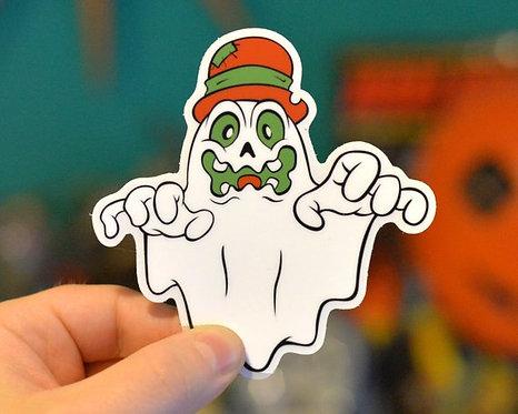 Hobo Ghost Halloween Hooligan Sticker