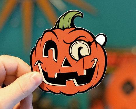 Pumpkin Halloween Hooligan Sticker
