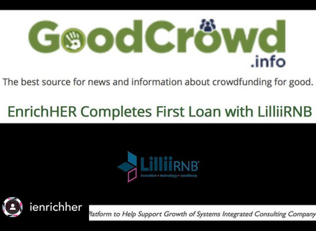 iEnrichHer Completes First Loan with LilliiRNB!
