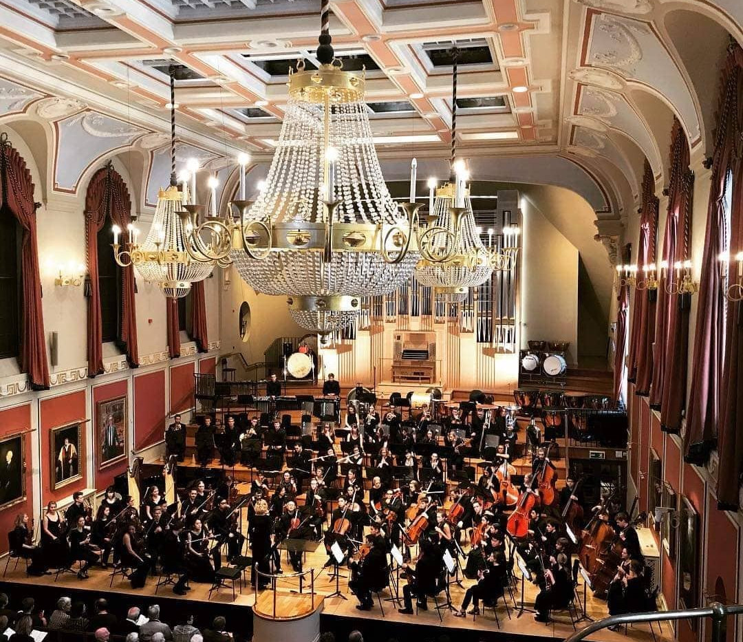 Sophie with the Royal Academy Symphony Orchestra