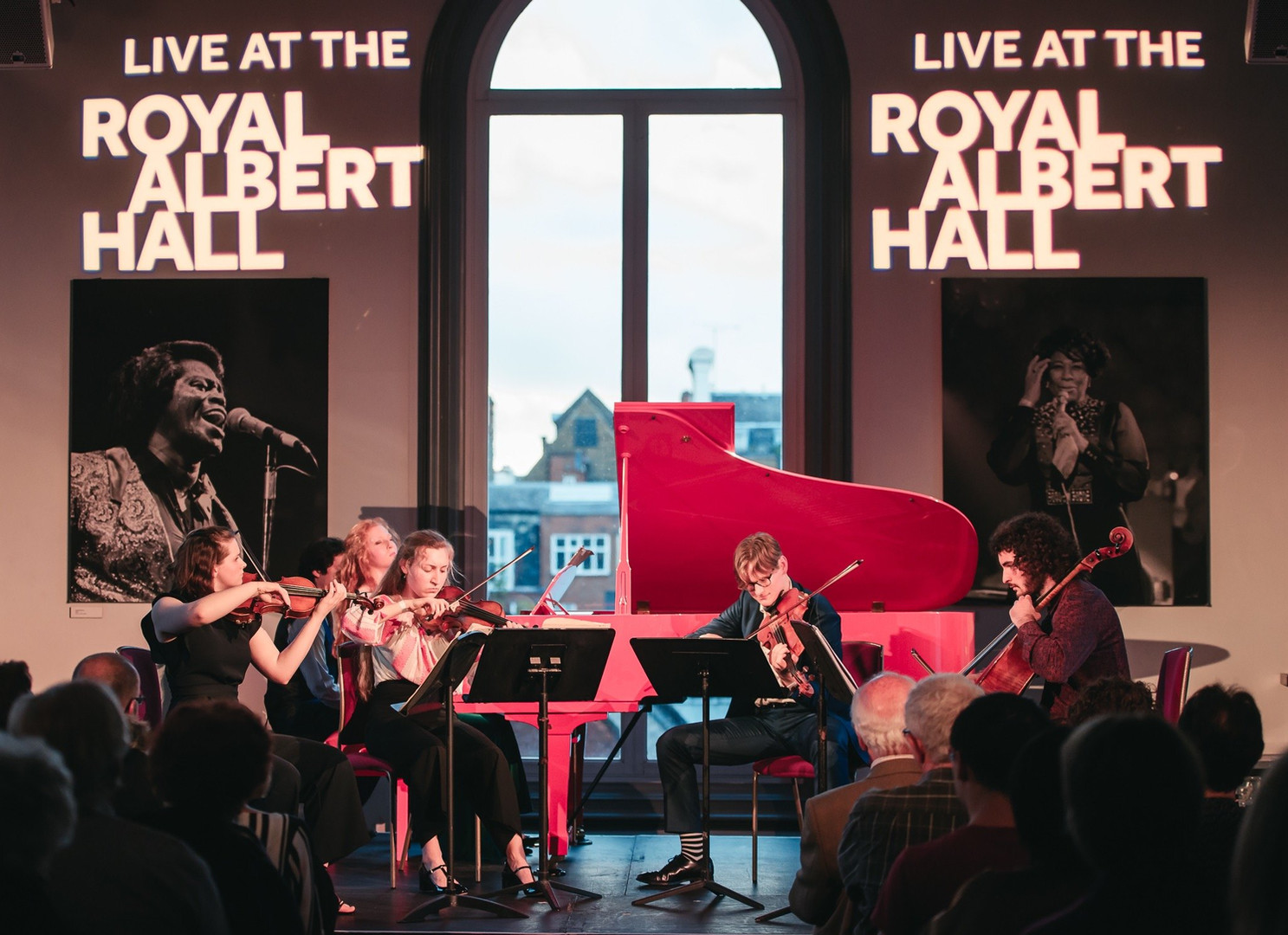 Sophie leading the Taneyev Quintet at the Royal Albert Hall