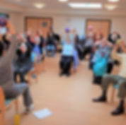 Seated exercise class with 1st Step Rehab Fitness Support in Milton Keynes