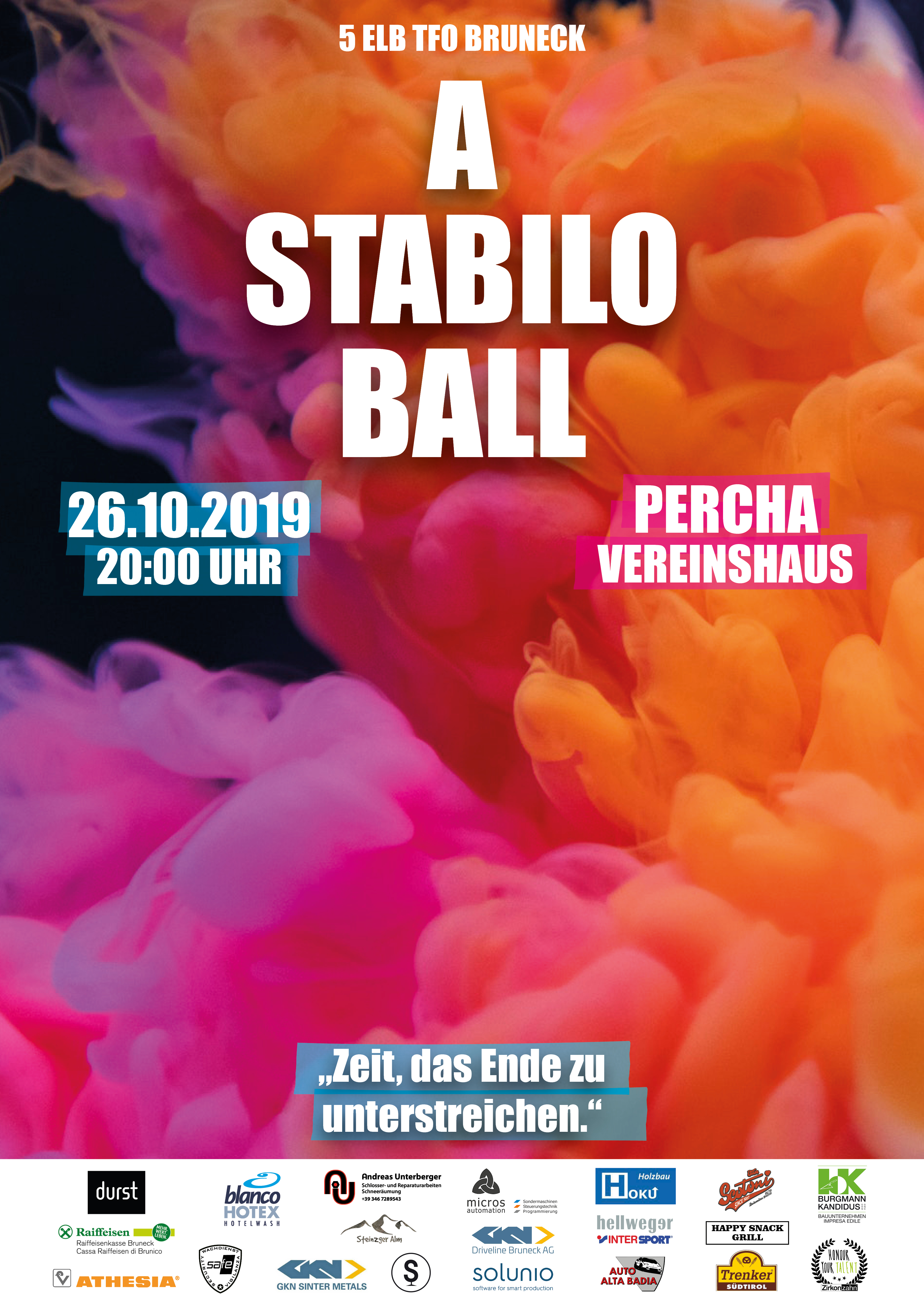 Stabilo Ball Plakat ohne Marker