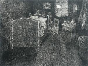 Reverse Van Gogh Bed