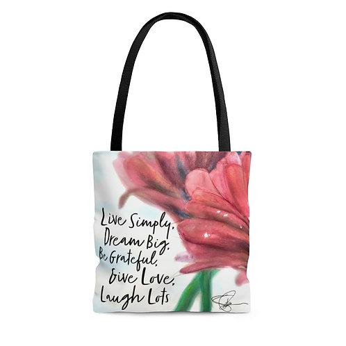 Sample Art Live Inspired Tote Bag