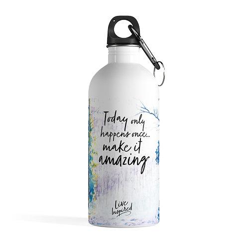 Sample Art Live Inspired Stainless Steel Water Bottle