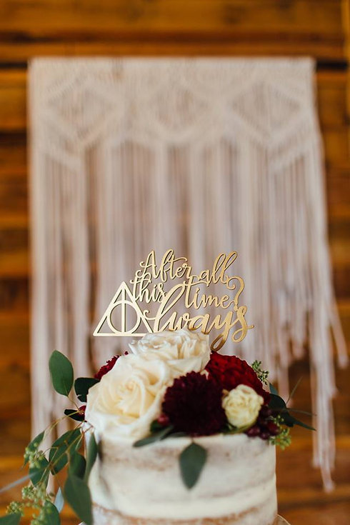 Macrame Wedding Cake Backdrop