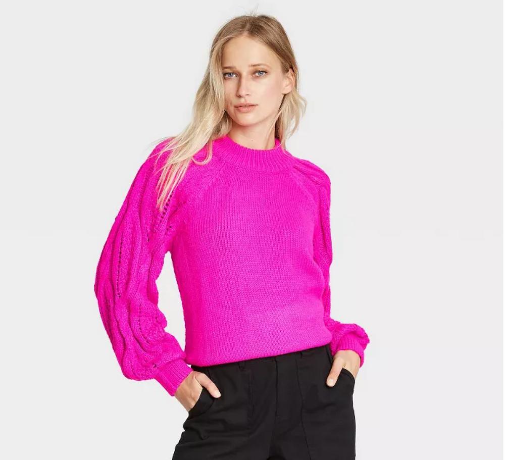 Women's Mock Turtleneck Pullover Sweater - Who What Wear Black Friday