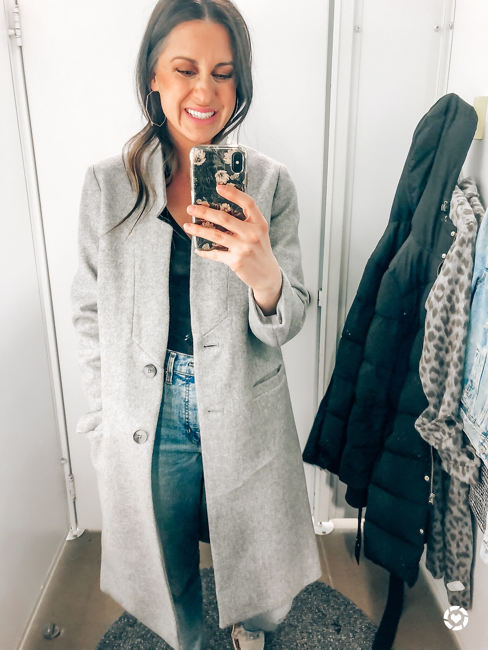 Gray Chic Winter Coat from Old Navy on Sale Courtney Garrison
