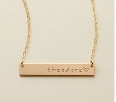 Cutest Name Bar Necklace Perfect Christmas Gift