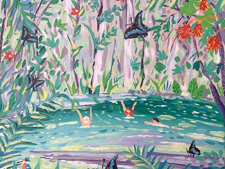 Latest painting – Borneo 'Clearwater Cave' at Mulu