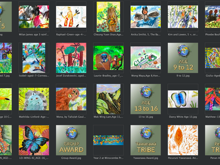 Children around the globe recognised for their conservation art