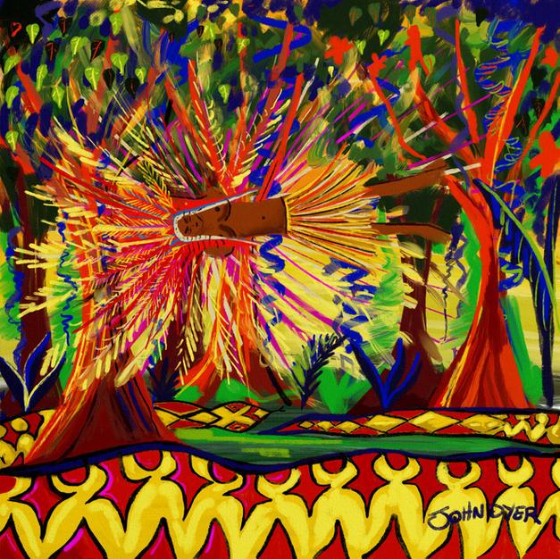 Vana Spirit, Yawanawá Tribe. Procreate iPad drawing