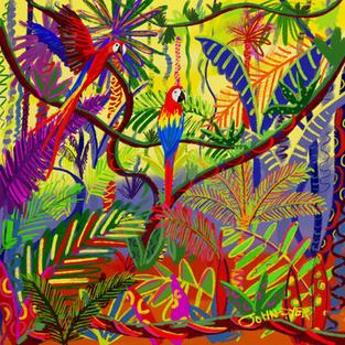 Amazon Colours. Procreate iPad drawing