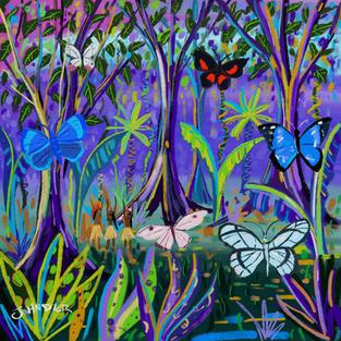Spiritual Butterflies. Procreate iPad drawing