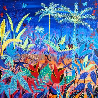 Original Painting by John Dyer. Rare - Spiritual rebirth. Amazon Rainforest Spirit Painting inspired by the Yawanawá Tribe.