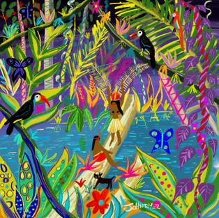 Sacred Rainforest. Procreate iPad drawing