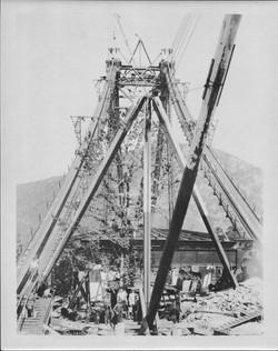 BMB Historic Constructing Tower & Cables 1