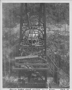 BMB Historic Constructing Span Raising Steel from River