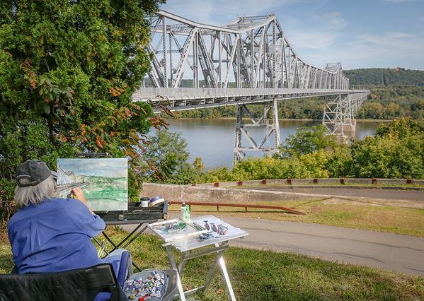 Susan Nicolini painting plein air-Chuck