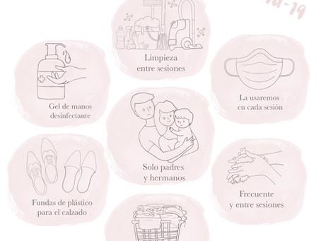Cómo afrontar una sesión newborn después del coronavirus