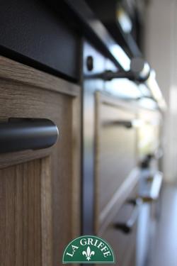 Cucina Vintage Industriale - legno e nero antracite