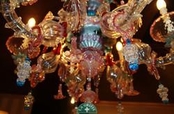 Lampadario in vetro di Murano6luci