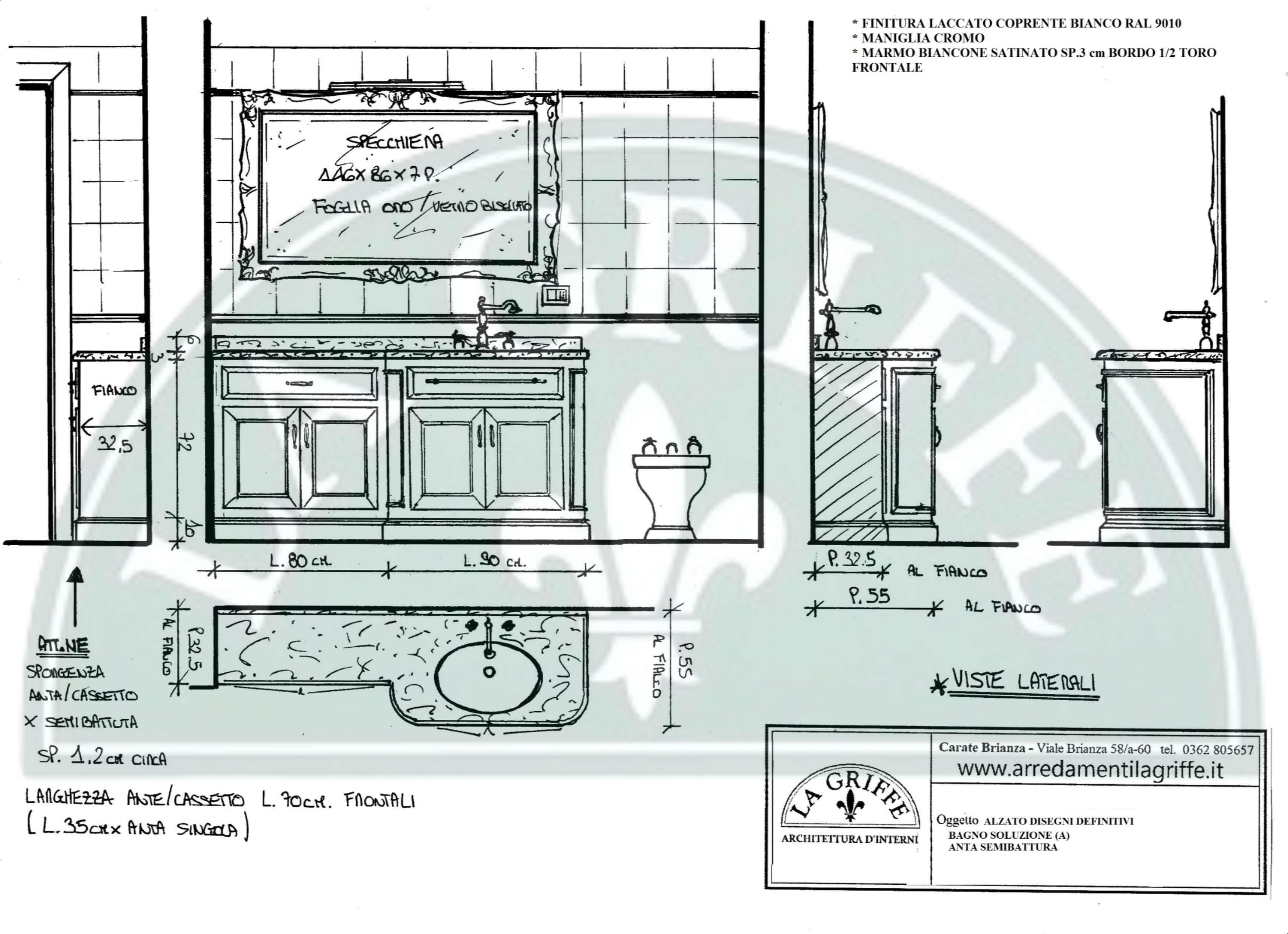 Progettazione arredo mobili bagno