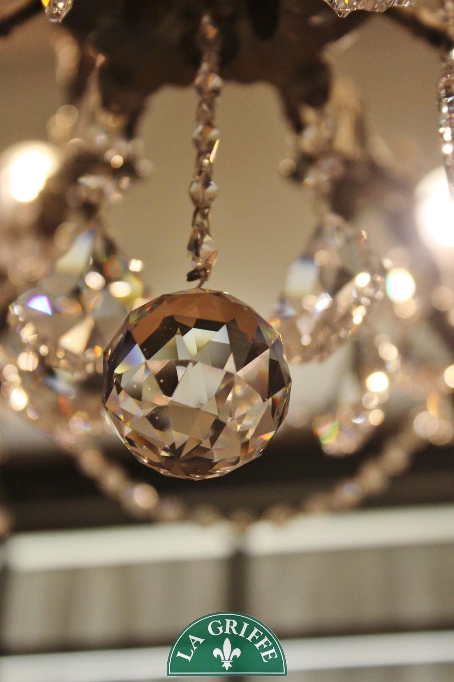 Lampadario 10 luci cristallo
