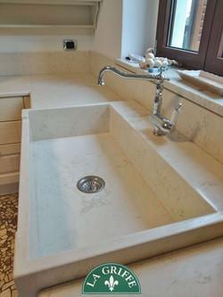 Lavello in marmo sopratop