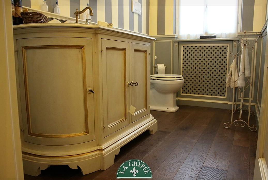 mobile da bagno legno oro