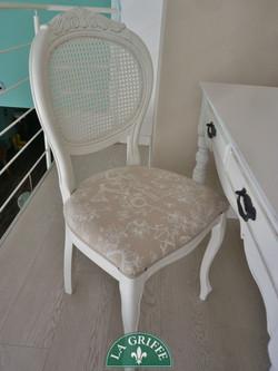 Sedia con seduta imbottita classica
