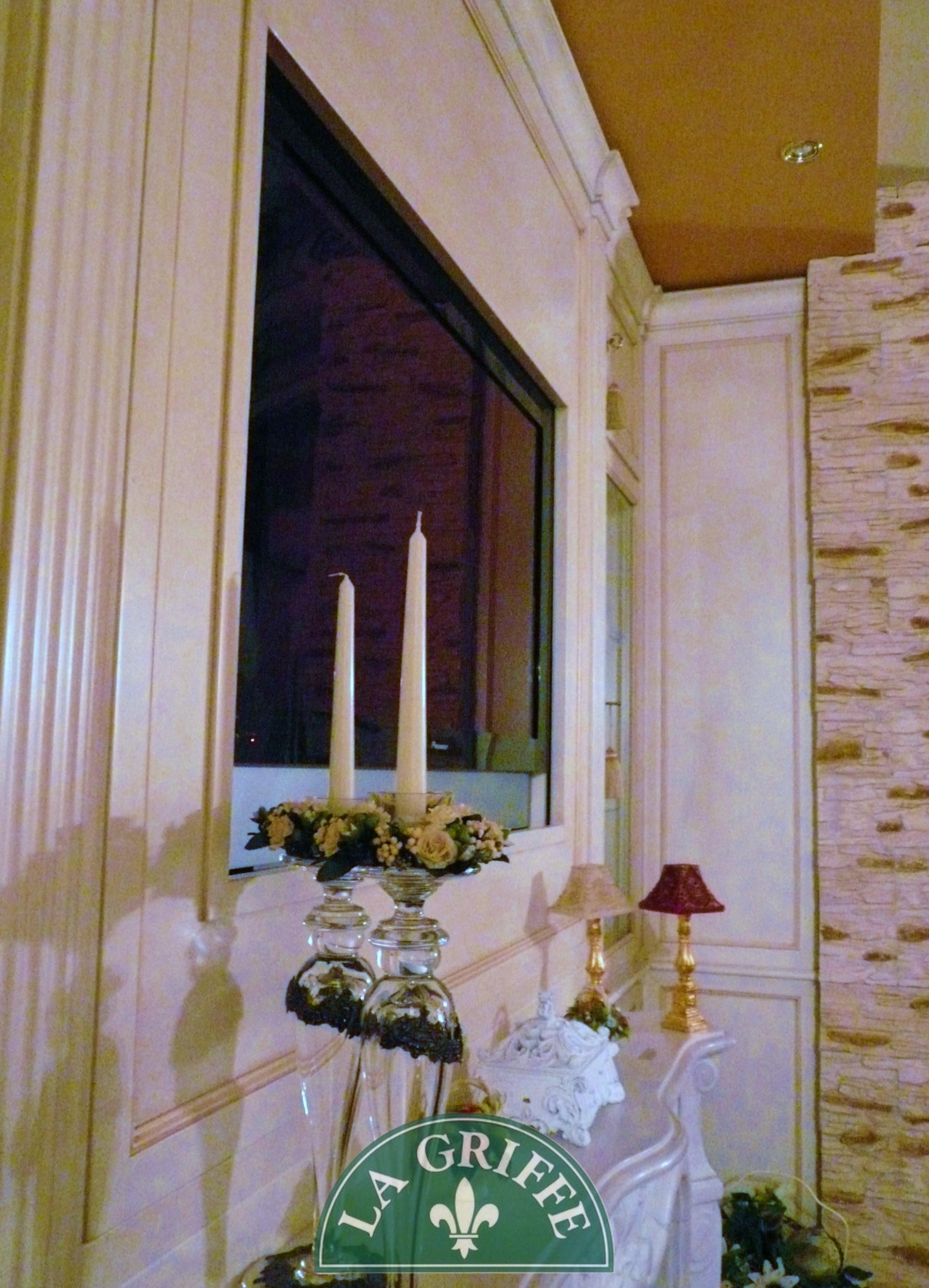 Boiserie artigianale porta tv