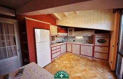 Cucina mansardata su misura